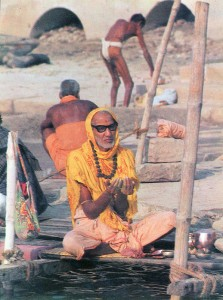 Sadhu praying