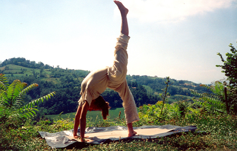 bridge yoga position by Anne Parsonage